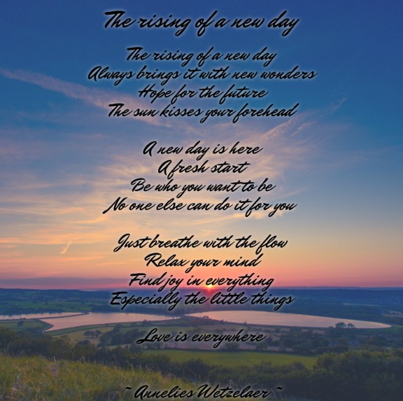 The rising of a new day